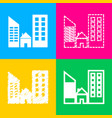 real estate sign four styles of icon on four vector image