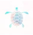 Sea turtle silhouette vector image