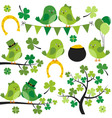 St Patrick Birds vector image