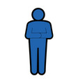 stand up man icon vector image