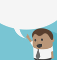 Young African businessman with speech bubbles vector image