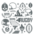 College rugby team badges vector image vector image