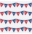 4th of July seamless bunting pattern vector image