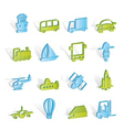 transportation and shipment icons vector image vector image