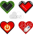 valentine hearts cards vector image