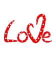 Hand drawn lettering Love vector image