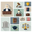 collection or set of law and justice icons vector image