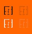 flat project apartment grey set icon vector image