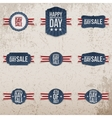 Independence Day Sale patriotic Emblems Set vector image