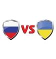 Russia vs Ukraina flag icons theme vector image
