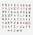 set of old norse scandinavian runes runic vector image