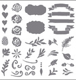 Set of plant elements for design vector image