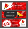 vertical banners collection with abstract vector image
