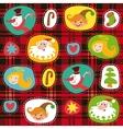 Christmas set plaid tartan pattern background vector image vector image