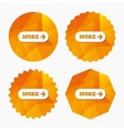 More with arrow sign icon Details symbol vector image