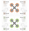 copter business card light vector image
