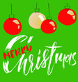 merry christmas handdrawn calligraphic and vector image