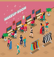 makeup room fashion isometric vector image