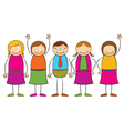 Stick figure Family vector image vector image