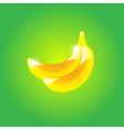 Glossy banana vector image