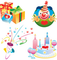 party elements vector image vector image