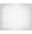 gray canvas background with snowflakes vector image vector image