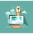 Project start up launch vector image