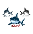 Shark Emblem Set vector image