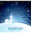Decorative Christmas-card vector image vector image