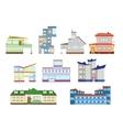 modern houses set vector image
