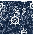 seamless pattern marine life vector image