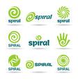 Set of spirals vector image
