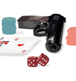 Set of various subjects from a casino subject vector image