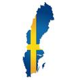 sweden map flag vector image