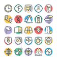 Map and Navigation Cool Icons 3 vector image