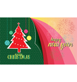 Christmas new year vector image