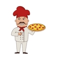 chef pizza character icon vector image