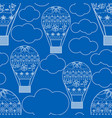 seamless pattern with air ballons vector image vector image