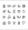 symbol of china black thin line icon set vector image