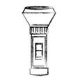 flashlight electronic device vector image