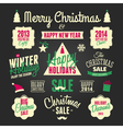 chalkboard style christmas design elements set vector image vector image