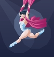 Young circus artist perform vector image