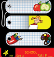 price tags school vector image vector image