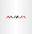 logo letter m set red black icon vector image