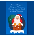 Santa Claus in Chimney on Christmas Eve Winter vector image
