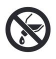 forbidden pour icon vector image