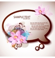 beautiful frame for speech vector image vector image