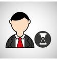 avatar man hourglass graphic vector image