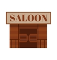 Conceptual cartoon western saloon representing mix vector image