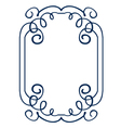 frame with swirls drawing hands vector image